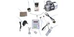 Счетчик оборотов электронный программируемый.Возможность подключения контроллера СОЭП-3 (1) к: интерфейсу RS-485 (2), блоку питания (3),  преобразователю шагового двугателя (4), шаговому двугателю (5), преобразователю электродвигателя (6), электродвигателю (7), датчику обрыва (8), оптическому реверсивному датчика обрыва (9)  и к левомуправому концевикам (10), для управления счетом к любым исполнительным механизмам.